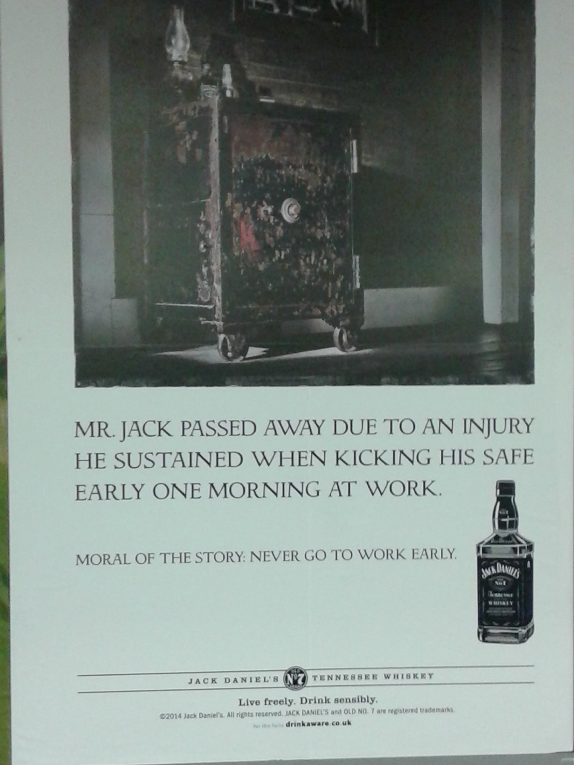 bad luck jack daniel yes this really happened to him  ad 2